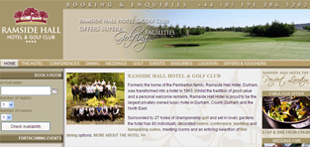 Ramside Hall hotel website