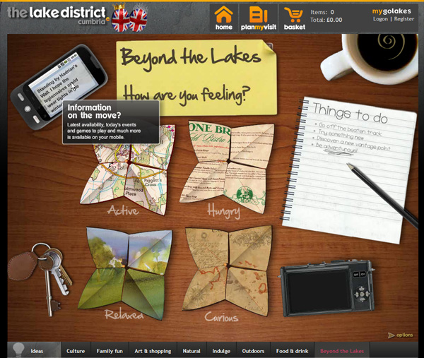 This interactive tool for exploring aspects of Cumbria beyond the Lake District.